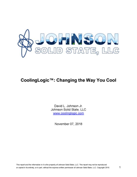 Changing the way you Cool CoolingLogic™